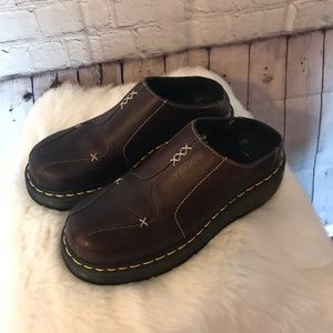 Dr. Marten  New Brown Platform Slides